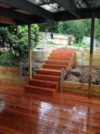 Deck build, retaining wall and staircase Bayswater, Melbourne
