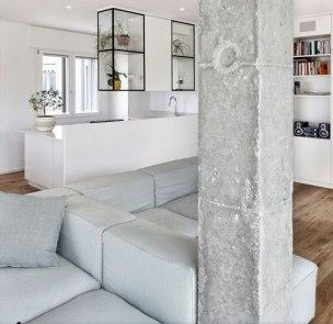 Concrete trend living rooms